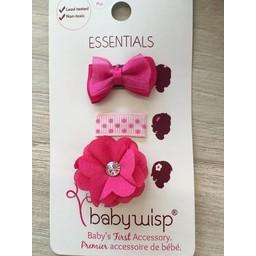 Baby Wisp Baby Wisp Ensemble Cadeau Essentiel/Baby Wisp Essentials Gift Set, Rose Fushia/Fuchsia