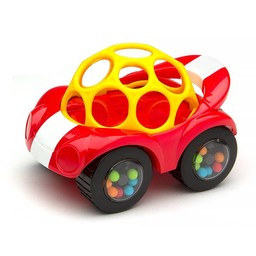 Oball *Voiture Hochet de Oball/Oball Rattle and Roll Car, Rouge/Red