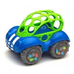 Oball *Voiture Hochet de Oball/Oball Rattle and Roll Car, Bleu/Blue