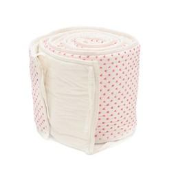 *Bordure pour Lit de Bébé de Little Auggie/Little Auggie Bed Bumper, Croix Roses/Cross Stitch Pink