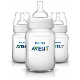 Philips Avent Ensemble de 3 Biberons Naturels 9oz de Philips AVENT/Philips AVENT Set of 3 Natural Bottles, 9oz