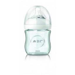 Philips Avent Philips AVENT - Biberon Naturel en Verre 4oz/Natural Single Glass Bottle 4oz