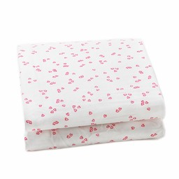 *Drap Contour pour Lit Simple de Little Auggie/Little Auggie Twin Fitted Sheet, Coeurs Roses/Little Flutter Pink