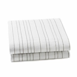 *Drap Contour pour Lit Simple de Little Auggie/Little Auggie Twin Fitted Sheet, Rayures Grises/Painted Stripe Grey