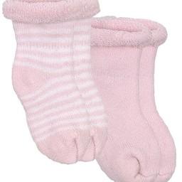 Kushies Ensemble de 2 Chaussettes pour Nouveau-Née de Kushies Baby/Kushies Baby 2 Pack of Newborn Socks , Rose/Pink
