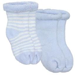 Kushies Ensemble de 2 Chaussettes pour Nouveau-Né de Kushies Baby/Kushies Baby 2 Pack of Newborn Socks, Bleu/Blue
