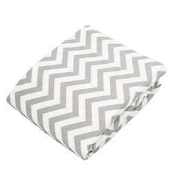 Kushies *Drap Contour pour Bassinette de Kushies Baby/Kushies Baby Fitted Crib Sheet, Gris Chevron/Grey Chevron