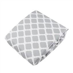 Kushies *Drap Contour pour Bassinette de Kushies Baby/Kushies Baby Fitted Crib Sheet, Gris Treillis/Grey Lattice