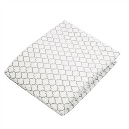 Kushies Drap Contour pour Bassinette de Kushies Baby/Kushies Baby Fitted Crib Sheet, Ornement,gris/Ornament Background Grey