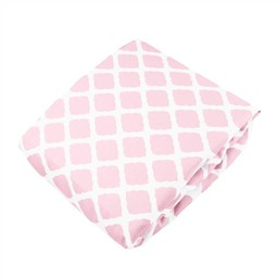 Kushies *Drap Contour de Kushies Baby/Kushies Baby Fitted Crib Sheet, Rose Treillis, Pink Lattice