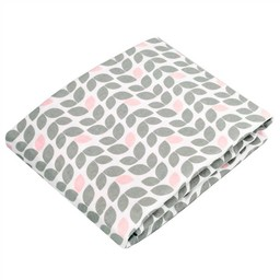 Kushies *Drap Contour pour Bassinette de Kushies Baby/Kushies Baby Fitted Crib Sheet, Pétales Grises/Petal Grey