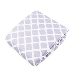 Kushies *Drap Contour de Kushies Baby/Kushies Baby Fitted Crib Sheet, Lilas Treillis/Lattice Lilac