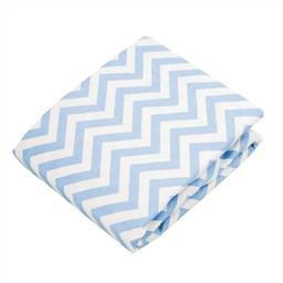 Kushies *Drap Contour pour Bassinette de Kushies Baby/Kushies Baby Fitted Crib Sheet, Bleu Chevron/Chevron Blue