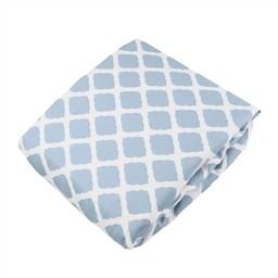 Kushies *Drap Contour pour Bassinette de Kushies Baby/Kushies Baby Fitted Crib Sheet, Bleu Treillis/Lattice Blue