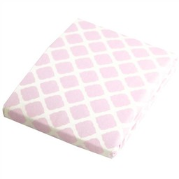 Kushies *Drap Contour pour Parc de Kushies Baby/Kushies Baby Portable Play Pen Sheet, Rose Treillis/Pink Lattice