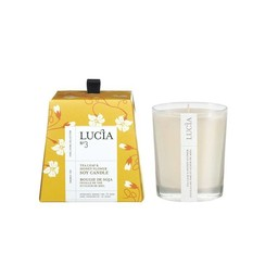 Lucia Bougie de Soja (20 h) de Lucia, Feuille de Thé et Miel/Lucia Soja Candle (20 h), Tea Leaf and Honey