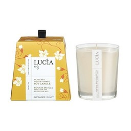 Lucia Bougie de Soja (45 h) de Lucia, Feuille de Thé et Miel/Lucia Soja Candle (45 h), Tea Leaf and Honey