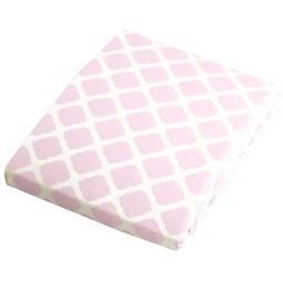 Kushies *Drap Contour de Flanelle pour Matelas à Langer de Kushies/Kushies Flannel Change Pad Fitted Sheet, Treillis Rose/Pink Lattice