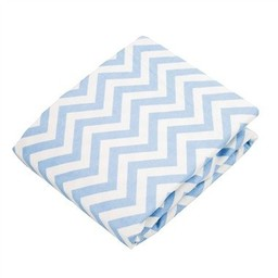 Kushies *Drap Contour de Flanelle pour Matelas à Langer de Kushies/Kushies Flannel Change Pad Fitted Sheet, Chevron Bleu/Blue Chevron