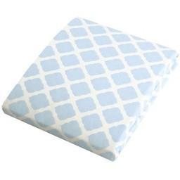 Kushies *Drap Contour de Flanelle pour Matelas à Langer de Kushies/Kushies Flannel Change Pad Fitted Sheet, Treillis Bleu/Blue Lattice
