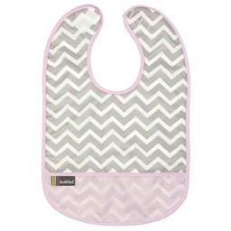 Kushies Bavette Imperméable 6-12 Mois de Kushies/Kushies 6-12 Months Cleanbib, Chevron Rose/Pink Chevron
