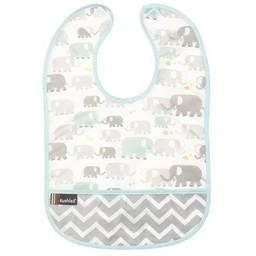 Kushies Kushies - Bavette Imperméable 6-12 Mois/6-12 Months Cleanbib, Éléphants/Elephants
