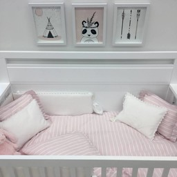 Bouton Jaune *Bouton Jaune - Cache-Oreiller 10x13 Pouces, Brise de Mer/Brise de Mer 10x13 Inches Pillow Cover, Rose et Blanc/Pink and White