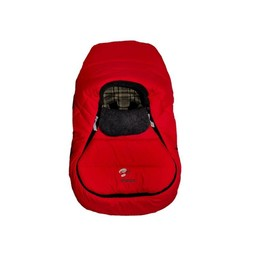 Sherpa Enveloppe pour Coquille Wigwam de Sherpa/Sherpa Wigwam Baby Car Shell, Rouge-Gris/Red-Grey