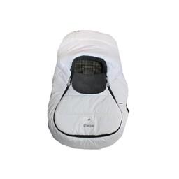 Sherpa Enveloppe pour Coquille Wigwam de Sherpa/Sherpa Wigwam Baby Car Shell, Blanc-Gris/White-Grey