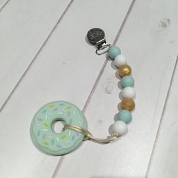 Loulou Lollipop Jouet de Dentition Beigne Menthe de Loulou Lollipop/Loulou Lollipop Mint Donut Teether, Menthe et Or/Mint Gold