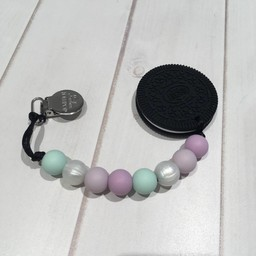 Loulou Lollipop *Jouet de Dentition Biscuit de Loulou Lollipop/Loulou Lollipop Cookie Teether, Lilas et Menthe/Lilac and Mint