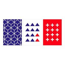 Manu Design *Ensemble de 3 Affiches 5x7 de Manu Design/Manu Design 5x7 Posters 3-Pack, Géométrique/Geometric