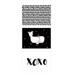 Manu Design *Ensemble de 3 Affiches 5x7 de Manu Design/Manu Design 5x7 Posters 3-Pack, Baleine/Whale