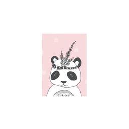 Manu Design Carte de Souhaits 3.5x4.8 de Manu Design/Manu Design 3.5x4.8 Greeting Card, Panda Rose/Pink Panda