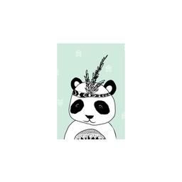 Manu Design Carte de Souhaits 3.5x4.8 de Manu Design/Manu Design 3.5x4.8 Greeting Card, Panda Vert/Green Panda