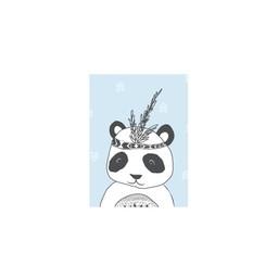 Manu Design Carte de Souhaits 3.5x4.8 de Manu Design/Manu Design 3.5x4.8 Greeting Card, Panda Bleu/Blue Panda