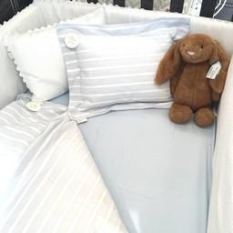 Bouton Jaune Bouton Jaune - Cache-Oreiller 10x13 Pouces, Brise de Mer/Brise de Mer 10x13 Inches Pillow Cover, Bleu et Blanc/Blue and White