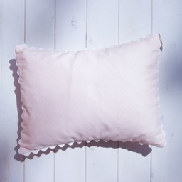 Bouton Jaune Cache-Oreiller 10x13 Pouces, Toi Moi Coco de Bouton Jaune/Bouton Jaune Toi Moi Coco 10x13 Pillow Cover, Rose à Pois/Pink with Dots