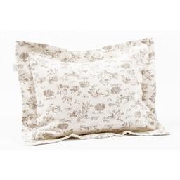 Bouton Jaune *Cache-Oreiller 10x13 Pouces, Plume de Bouton Jaune/Bouton Jaune Plume 10x13 Inches Pillow Cover, Café/Coffee