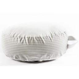 Bouton Jaune *Coussin de Sol, Céleste de Bouton Jaune/Bouton Jaune Céleste Floor Cushion, Rayé Gris/Grey Stripes, Taille Unique/One Size