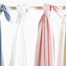 "Bouton Jaune Bouton Jaune - Couverture en Coton Organique 42po x 42po/42"" x 42"" Organic Cotton Blanket, Blanc/White"