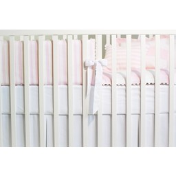 Bouton Jaune *Demi-Bordure de Lit, La Petite Suite de Bouton Jaune/Bouton Jaune La petite Suite Bed Half Bumper, Rose et Blanc/Pink and White BORD-133 Taille Unique