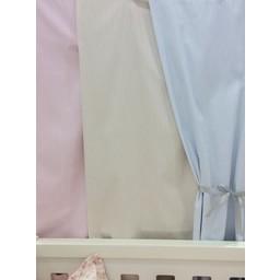 Bouton Jaune *Bouton Jaune - Panneau de Rideau/Curtain Panel, Rayé Beige/Beige Stripes, Taille Unique