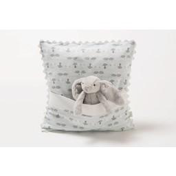 Bouton Jaune Bouton Jaune - Oreiller 12x12 avec Pochette, Trois Petits Pois/Trois Petits Pois 12x12 Pillow, Chats/Cats