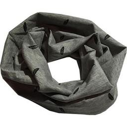 L&P Foulard Anneau en Coton de L&P/L&P Infinity Cotton Scarf, Plumes-Gris/Feathers-Grey, 0-5T