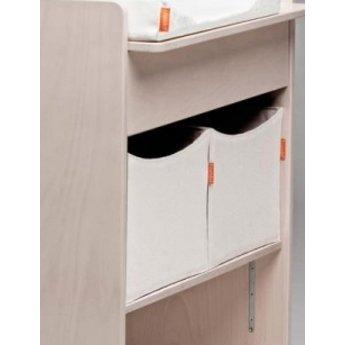 Leander leander bo te de rangement pour table langer 2 storage box for changing station for Boite rangement table a langer