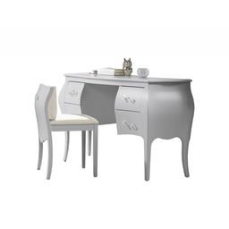 Natart Juvenile Natart Alexa - Vanité/Desk with Seating, Alexa by Natart, Argent/Silver