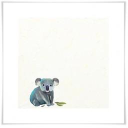 Oopsy Daisy Toile 14x14 Bébé Koala Encadrée de Oospy Daisy/Oopsy Daisy 14x14 Silver Leaf Framed Baby Koala Canvas Wall Art