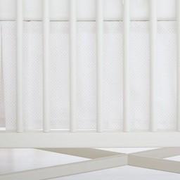Bouton Jaune Bouton Jaune - Jupe de Lit Classique, Trois Petits Pois/Trois Petits Pois Classic Bedskirt, Pois Roses/Pink Dots