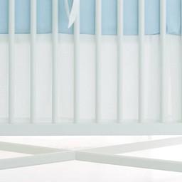 Bouton Jaune Bouton Jaune - Jupe de Lit Classique, Trois Petits Pois/Trois Petits Pois Classic Bedskirt, Pois Bleus/Blue Dots